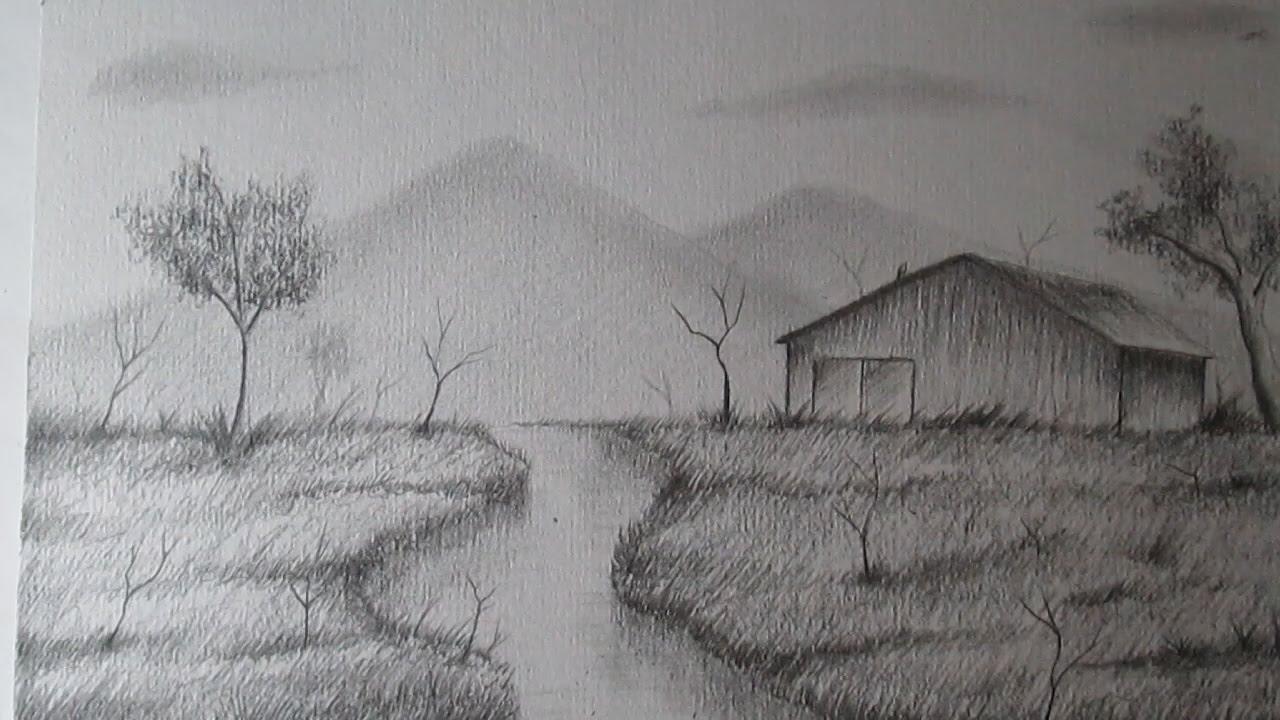 c mo dibujar un sencillo paisaje a l piz paso a paso bien