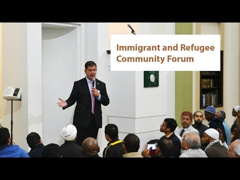 Immigrant and Refugee Community Forum with Mayor Martin Walsh