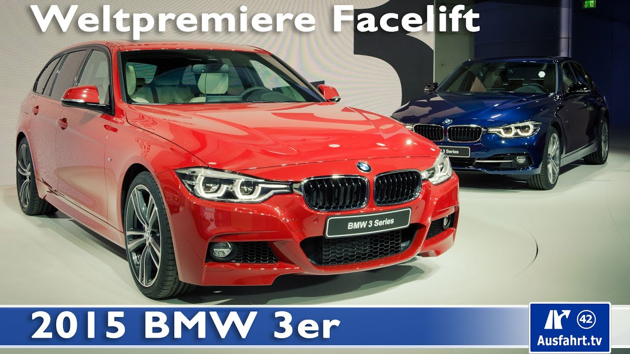 2015 bmw 3er facelift weltpremiere muenchen german youtube. Black Bedroom Furniture Sets. Home Design Ideas