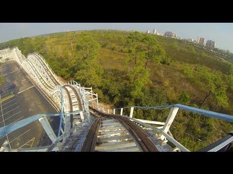 Cannonball Run Wooden Roller Coaster POV Waterville USA Alabama