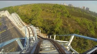 Cannonball Run Wooden Roller Coaster POV Waterville USA Alabama
