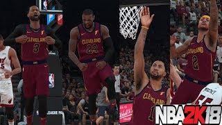 NBA 2K18 Duo reunite!Wade in cleveland- Dwyane Wade to Lebron James vs Heat
