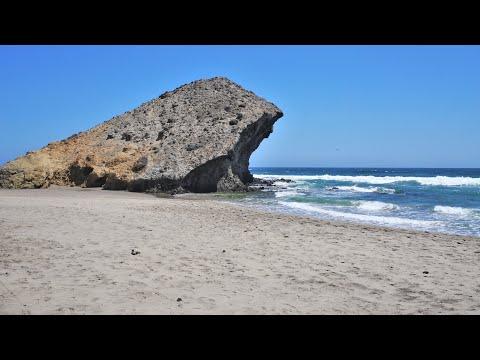 Playa de Monsul en San José Nijar Almería Andalucía