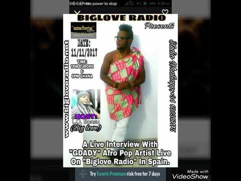Gdady live on Biglove radio Spain