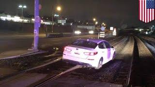 線路上を車で走行した女性→「GPSの指示通りに運転しただけ」 - トモニュース