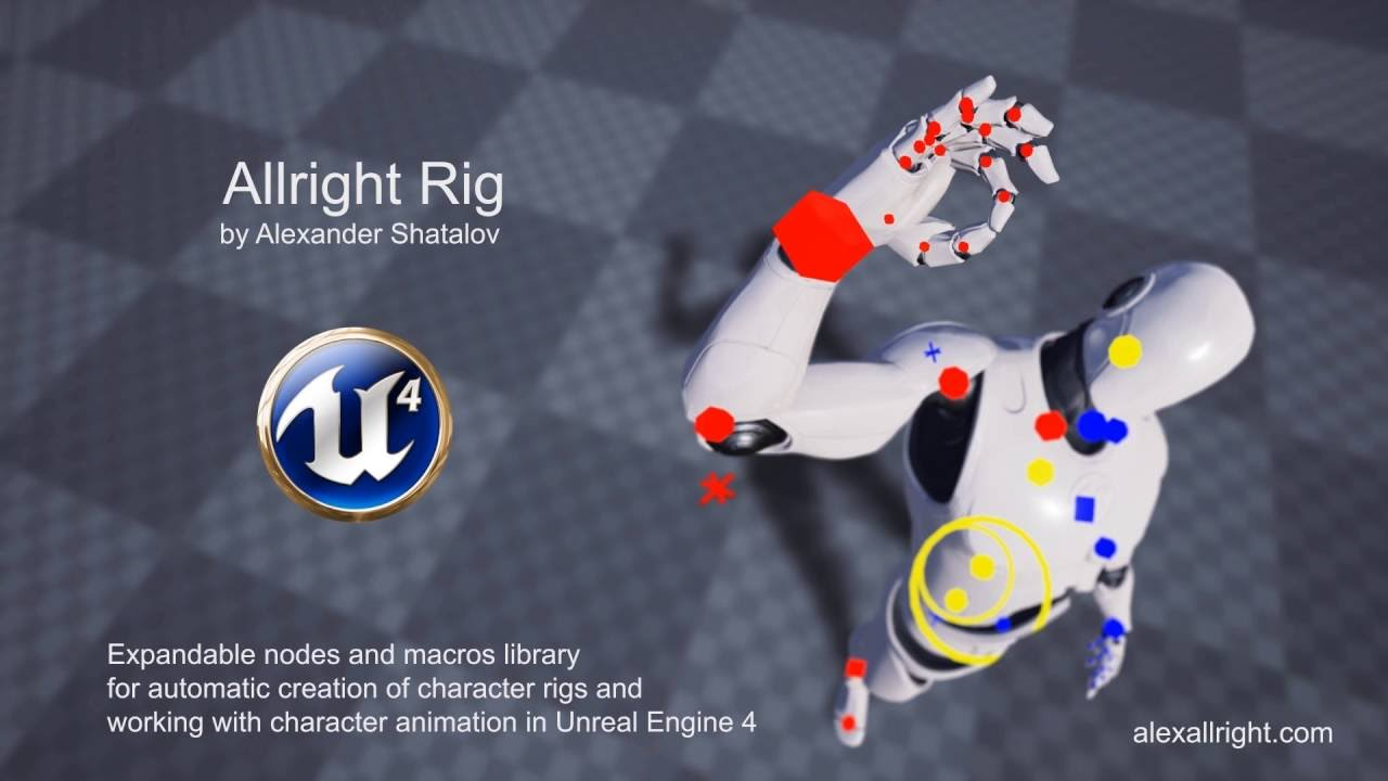 Allright Rig: Free Unreal Engine 4 Animation Rig - Game Anim
