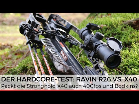Der ultimative Test: Packt die Stronghold X40 auch die Ravin R26 mit 400fps und Bodkin-Jagdspitze?