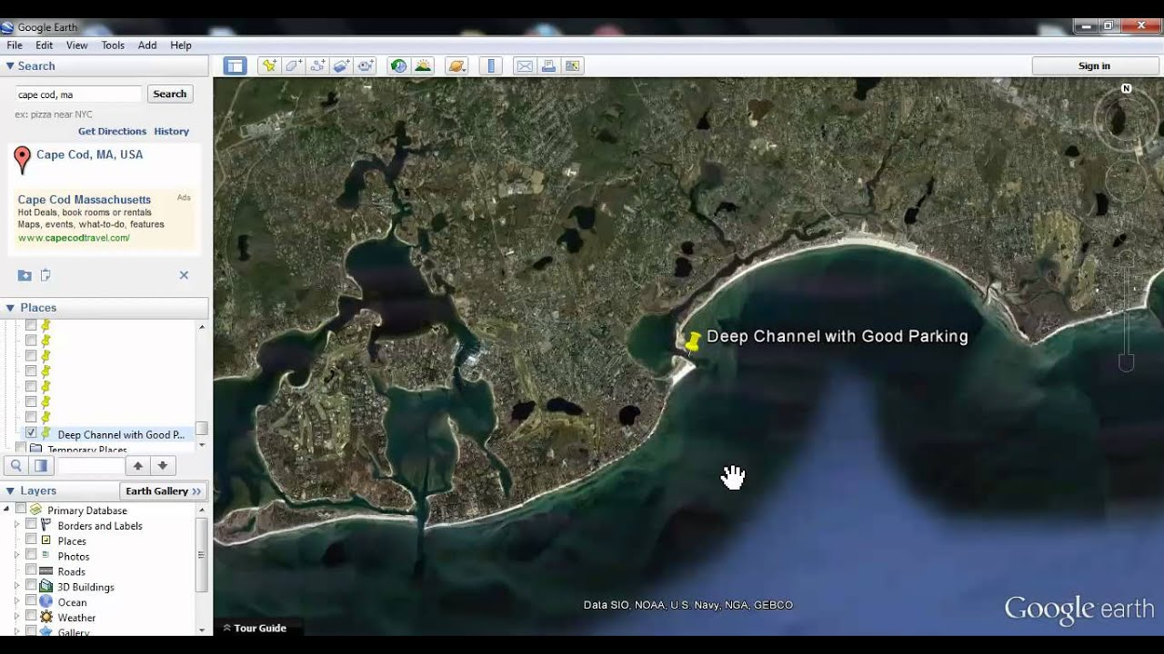 How To Use Google Earth To Locate Fishing Spots YouTube - Satellite fishing maps