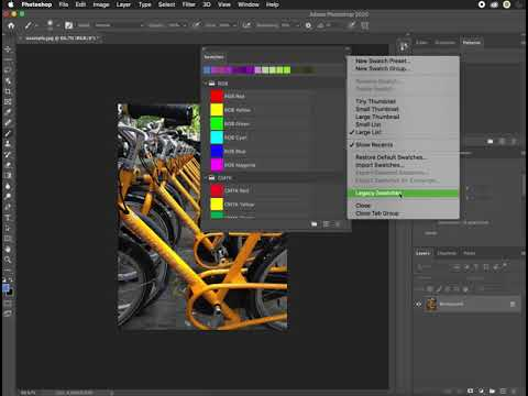 Selecting A Color Via The Swatches Panel In Photoshop