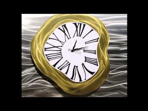 Metal wall clock Brisbane - Modern metal wall clock Brisbane made