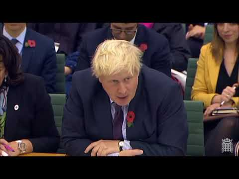 Boris Johnson at Foreign Affairs Committee, Wednesday 1 November 2017