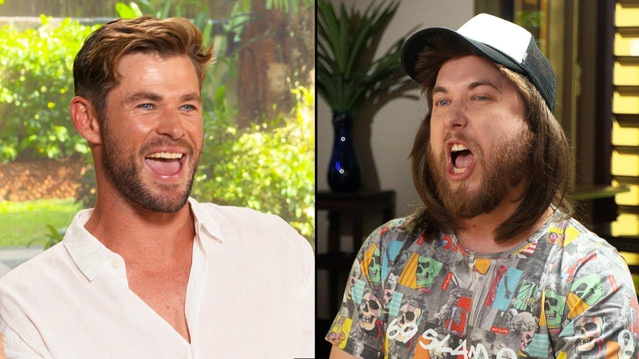 Ozzy Man & Chris Hemsworth Interview + GUESS THE AUSSIE SLANG (Expert Mode)