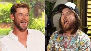 Ozzy Man & Chris Hemsworth Interview + GUESS THE AUSSIE SLANG (Expert
