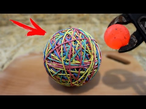 Thumbnail: EXPERIMENT Glowing 1000 degree metal ball VS Rubber Band Ball