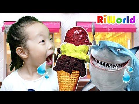 진짜 아이스크림 VS 가짜 아이스크림! 리원이의 마법의 아이스크림 가게 놀이 달님이 아이스크림 가게 장난감, Ice Cream Toy Shop Play