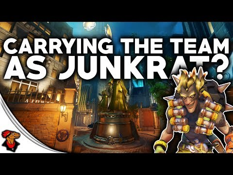 Overwatch Best Moments   Best JunkRat Game Ever!   I Carry The Team?