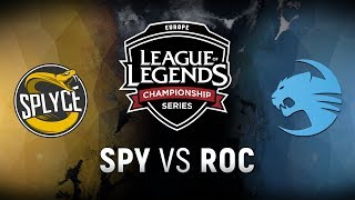SPY vs. ROC  - Week 2 Day 1 | EU LCS Spring Split |  Splyce vs. Team Roccat (2018)