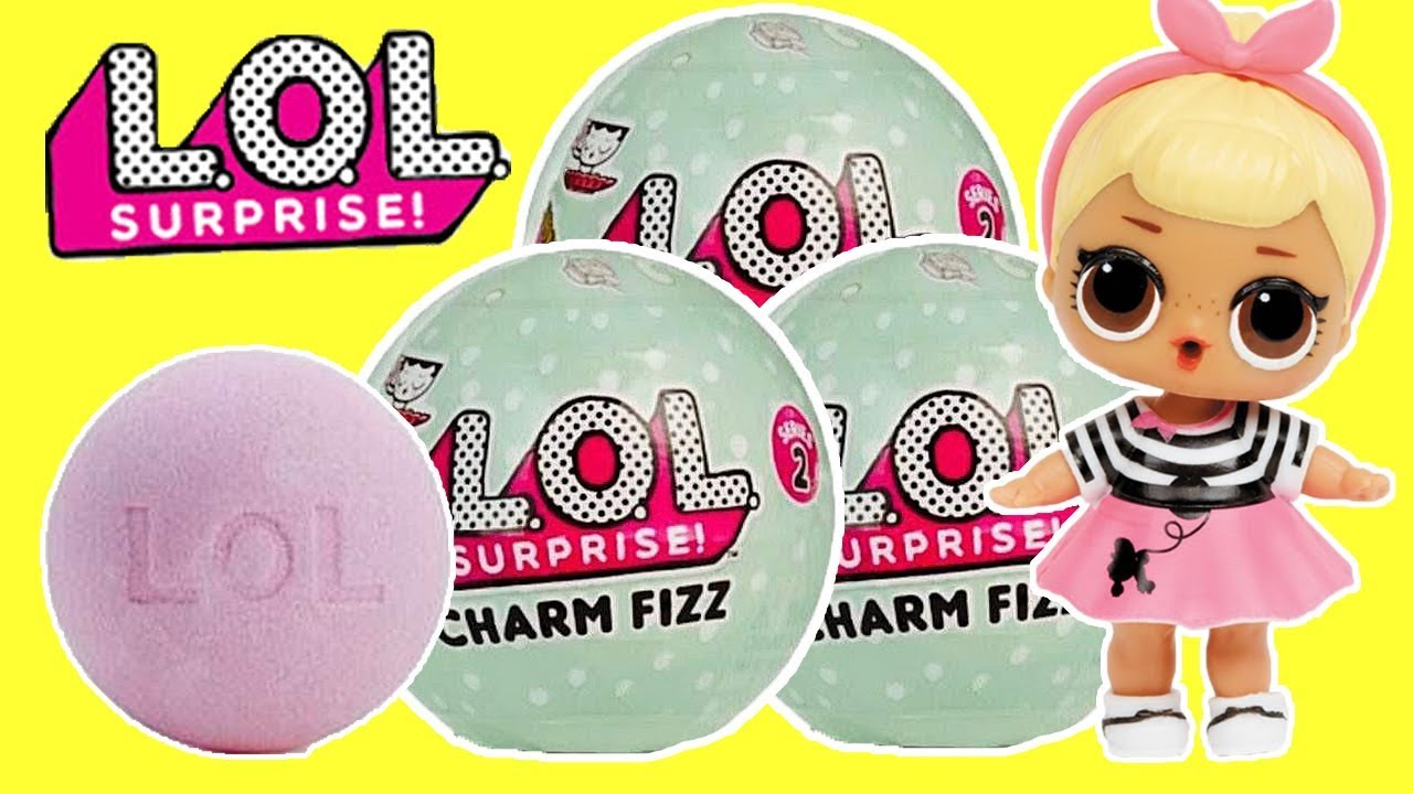 Lol Surprise Charm Fizz Bath Bombs Youtube