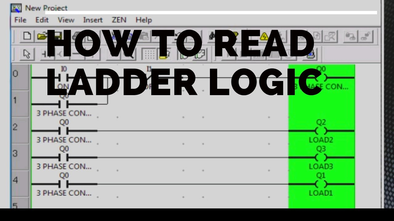 How To Read Ladder Logic Diagram