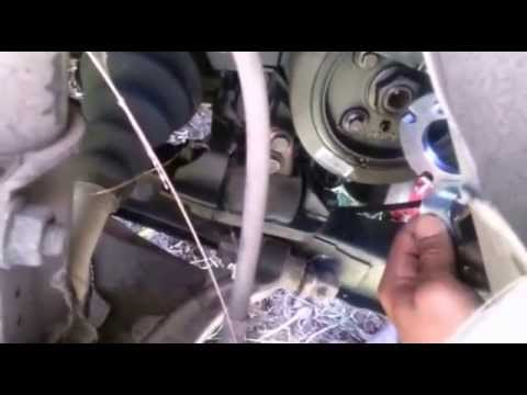 99 Volvo XC70 Crank Shaft Pulley removal Tool - YouTube