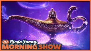 Aladdin Official Trailer Reacts - The Kinda Funny Morning Show 10.12.18