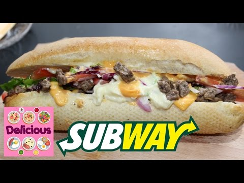 Homemade Subway Beef Sandwich Recipe - How to make subway sandwich with beef - Delicious