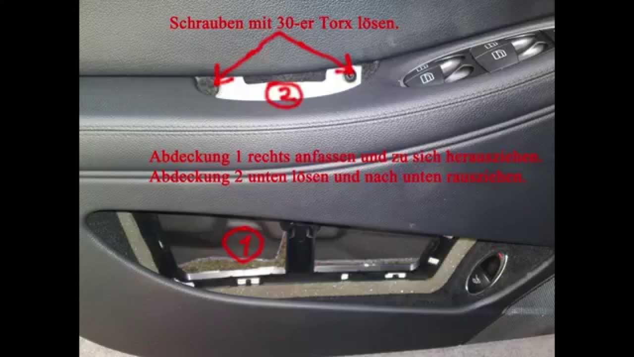 Mercedes Benz CLS C219 Fensterheber-Seilzug gerissen Quitsch - YouTube