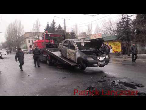 GRAPHIIC 18+ Attack on trolley bus in Donetsk reported 13 civilians killed.