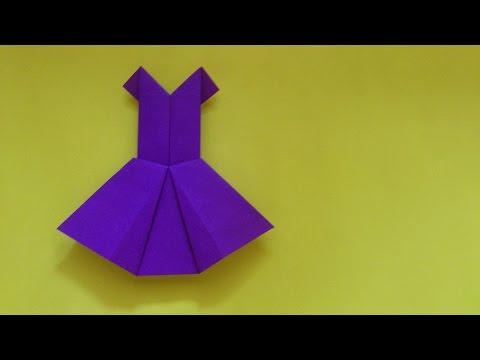Cara Membuat Origami Baju Pesta | Origami Baju
