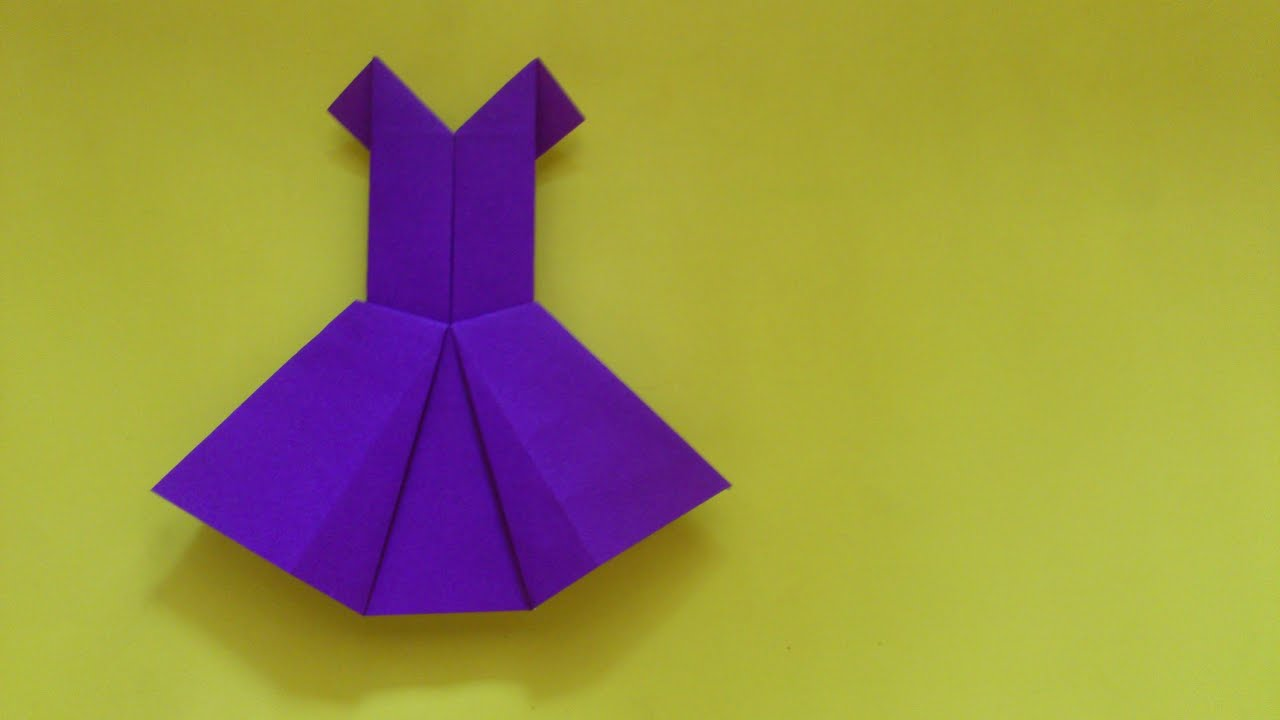 How To Make Origami Party Dress  Origami Clothes