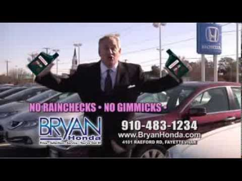 Bryan Honda Free Oil Change Fayetteville North Carolina