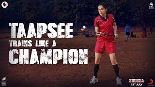 Taapsee Trains Like a Champion | Soorma | Taapsee Pannu | Diljit Dosanjh | Sandeep Singh