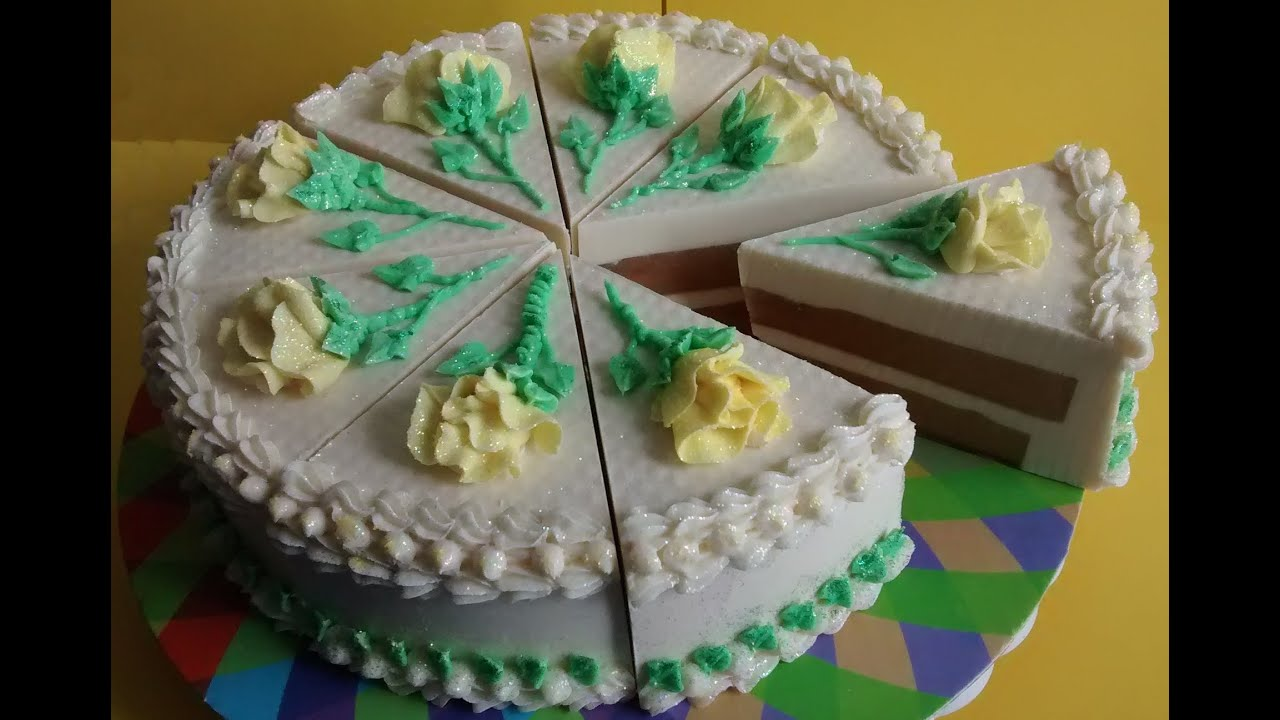 Making Birthday Cake Scented Soap Cake Youtube