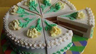 Making Birthday Cake scented soap cake