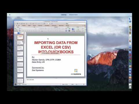 Importing Excel (CSV or any Spreadsheet) file into QuickBook