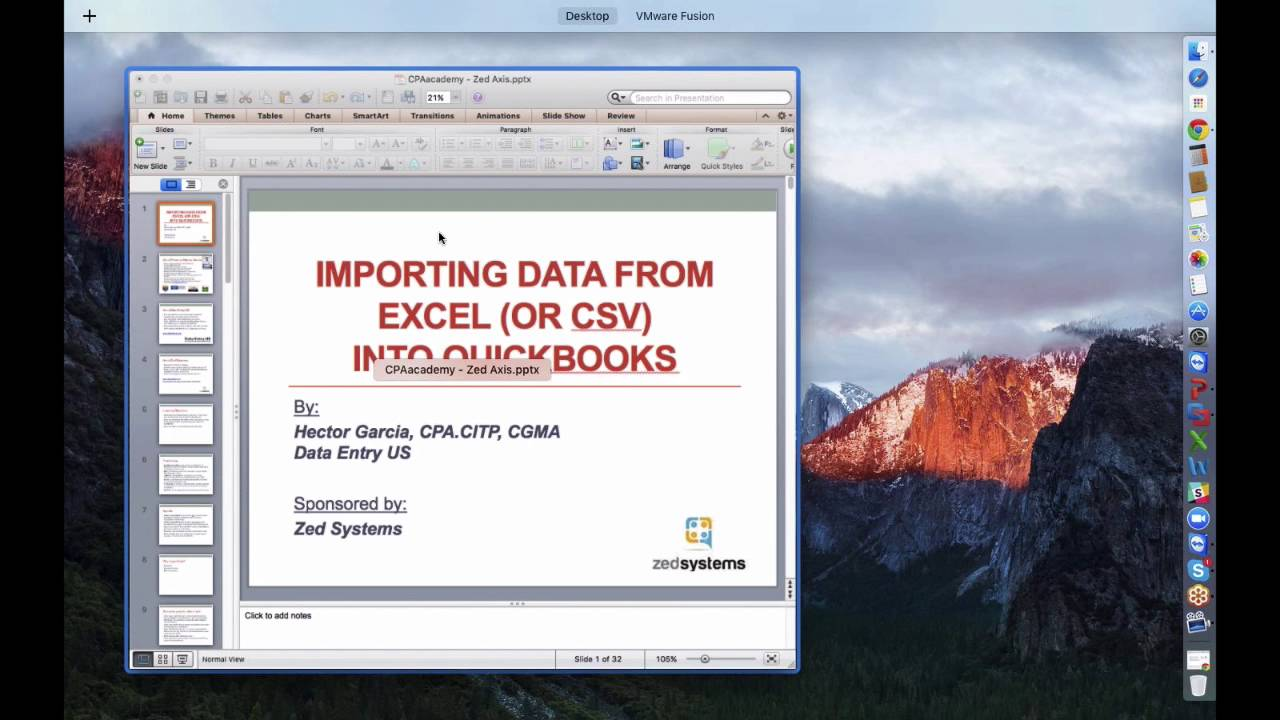 Importing Excel (CSV or any Spreadsheet) file into QuickBooks with built-in  tools  Plus Zed Axis