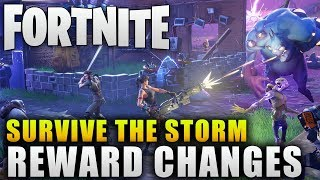 "Fortnite News ""Better Rewards in Survive the Storm Update"" Fortnite New Event Changes"