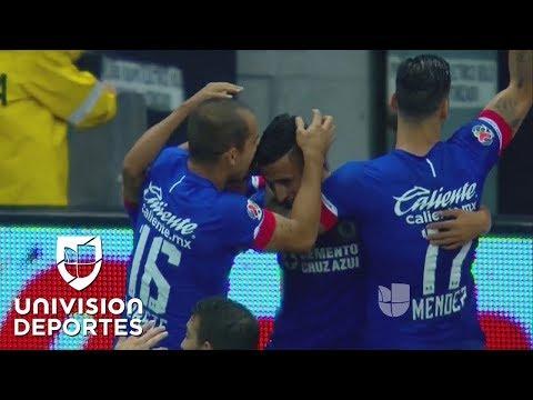 Golazo de Alvarado y Cruz Azul se puso en ventaja