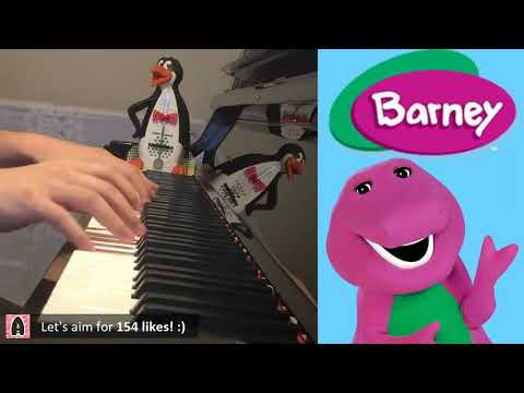 Barney Theme Song (Piano Cover by Amosdoll)