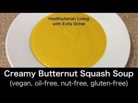 Simple Creamy Butternut Squash Soup (whole food vegan, oil-free)