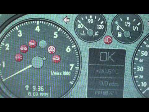 Audi A3 8L Dashboard Warning Lights & Symbols   What They Mean