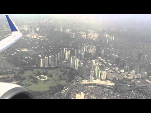 United Micronesia 737-800 takeoff from Manila Philippines to Guam - Beautiful View