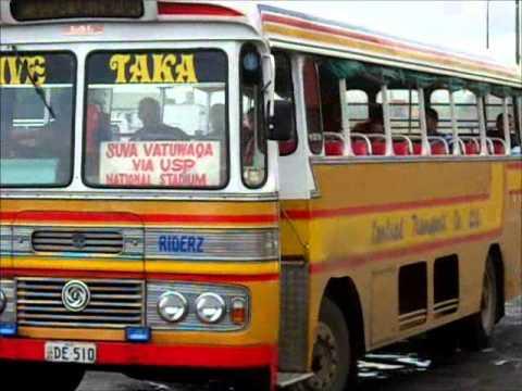 Classic buses in Fiji