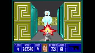 Wolfenstein 3D - Xmas Wolf Mod 100% - Floor 6 [MS-DOS]