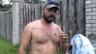 This is video came from the vault. Luis Slayton removed a honey bee...