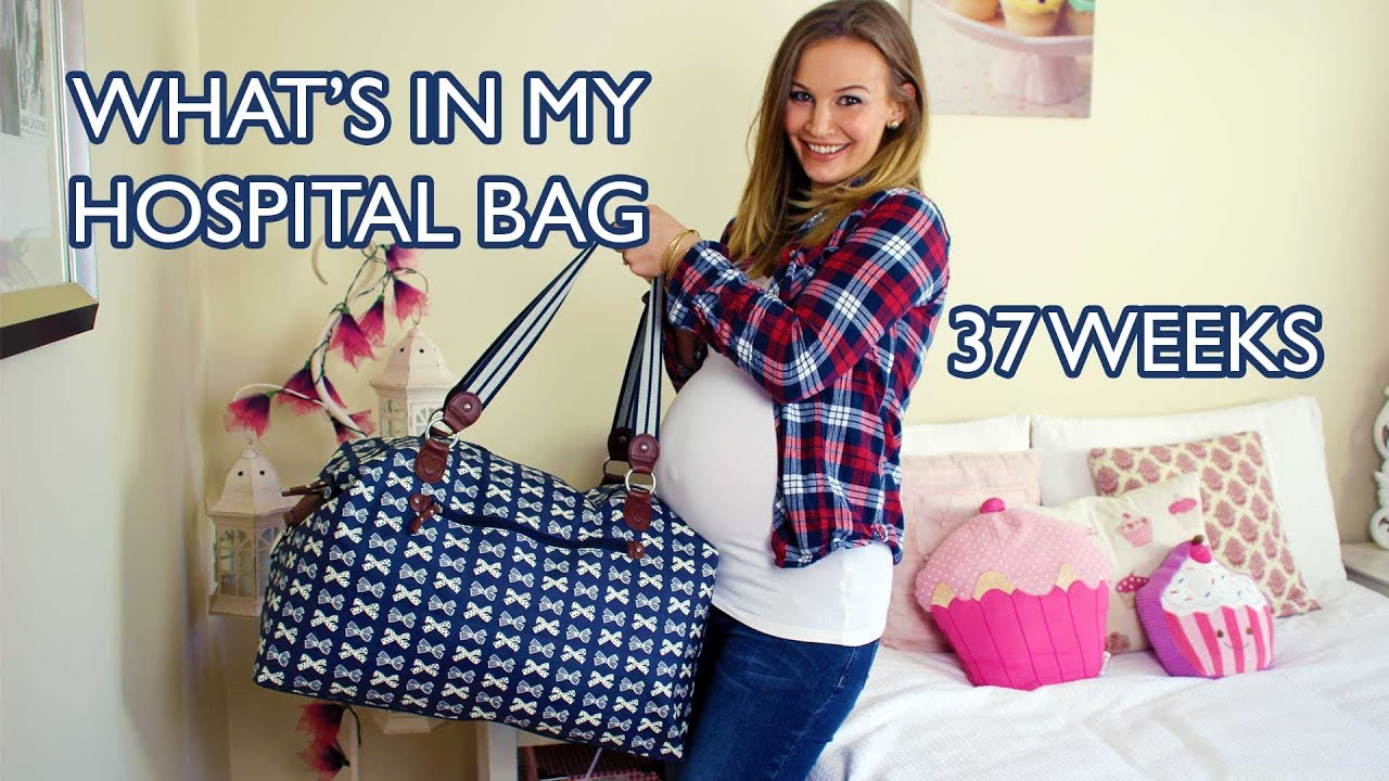 What S In My Hospital Bag 37 Weeks Pregnant Youtube