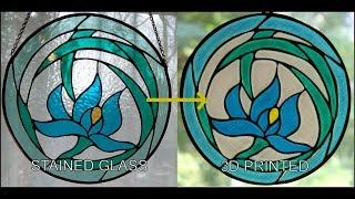 Replicating Stained Glass with a 3D Printer