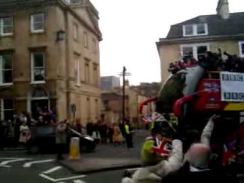 Olympian Amy Williams Bath homecoming bus tour
