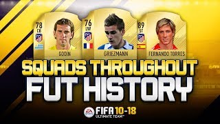 ATLETICO MADRID EUROPA LEAGUE WINNERS 2018 THROUGHOUT FUT HISTORY! - FIFA 10-18 ULTIMATE TEAM