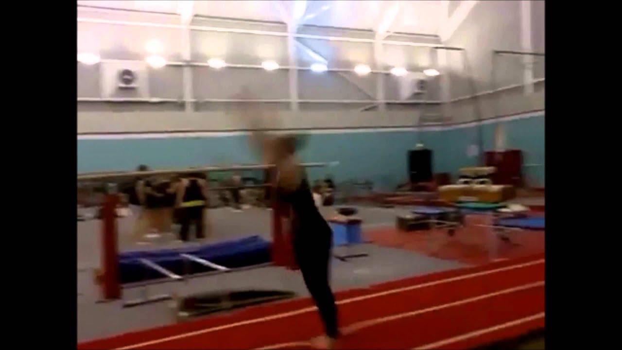 Gymnastics- Round-off Flick Straight Back - YouTube